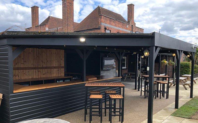 Outdoor Pub Refurbishment at Brook House