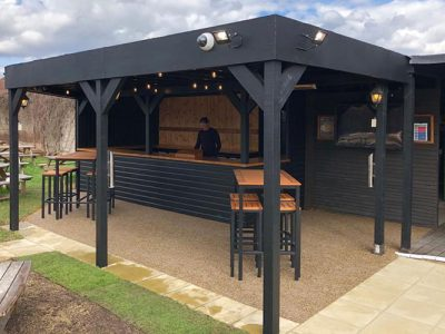 Outdoor Pub Refurbishment